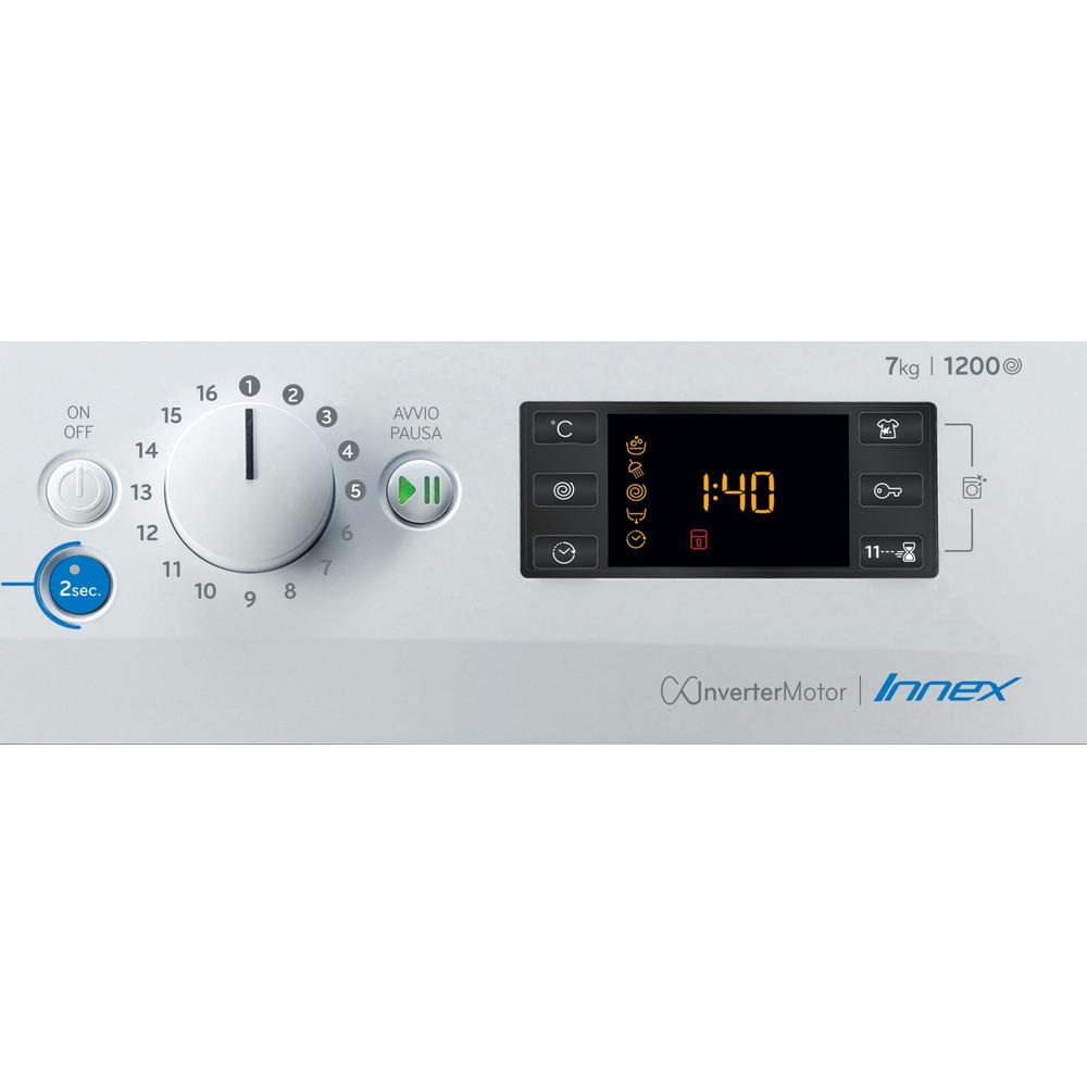 Indesit Lavabiancheria A libera installazione BWSE 71283X W IT N Bianco Carica frontale D Control panel
