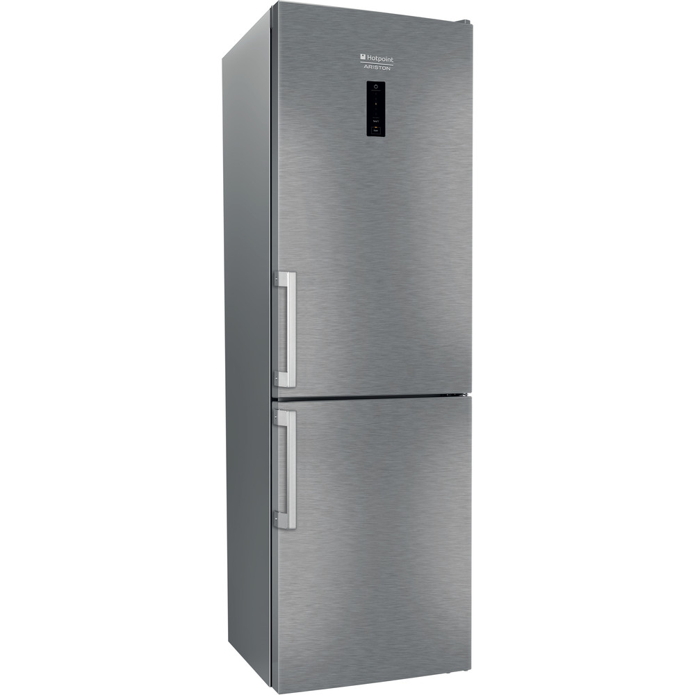 Hotpoint_Ariston Комбинированные холодильники Отдельностоящий HS 5181 X Нержавеющая сталь 2 doors Perspective