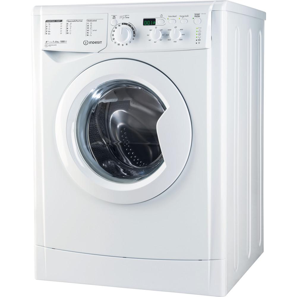 Indesit Máquina de lavar roupa Livre Instalação EWD 61052 W EU/1 Branco Carga Frontal A++ Perspective
