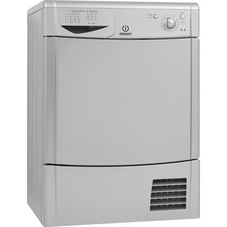Indesit Dryer IDC 8T3 B S (UK) Silver Perspective