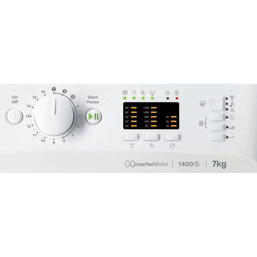 Indesit Lave-linge Pose-libre MTWA 71483 W EE Blanc Frontal D Control panel