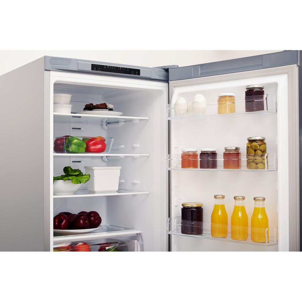 Indesit Συνδυασμός ψυγείου/καταψύκτη Ελεύθερο XIT9 T3U X Inox 2 doors Lifestyle perspective open