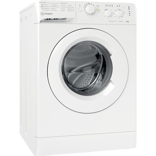 Indesit Washing machine Free-standing MTWC 91483 W UK White Front loader D Perspective