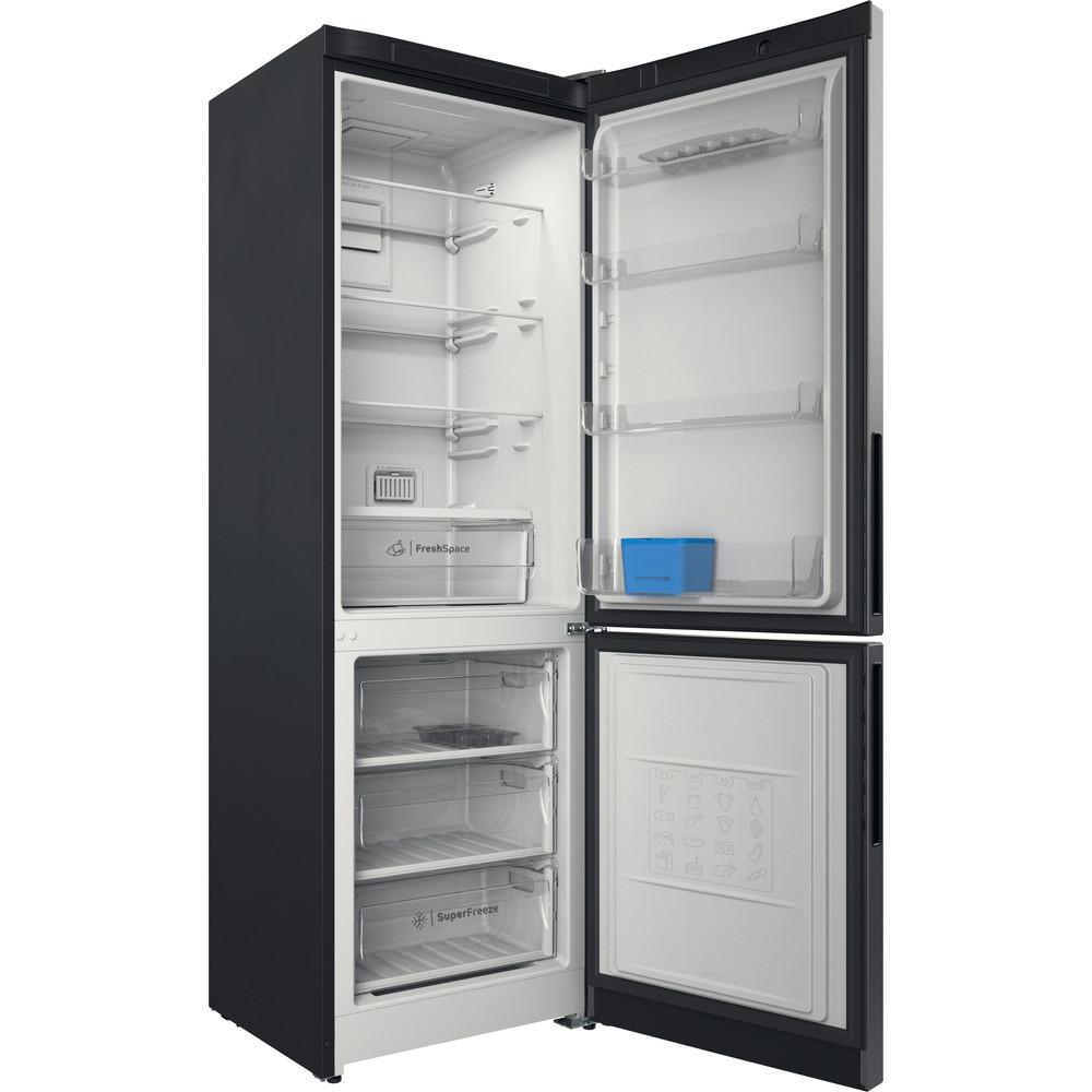 Indesit Холодильник с морозильной камерой Отдельностоящий ITR 5180 S Серебристый 2 doors Perspective open