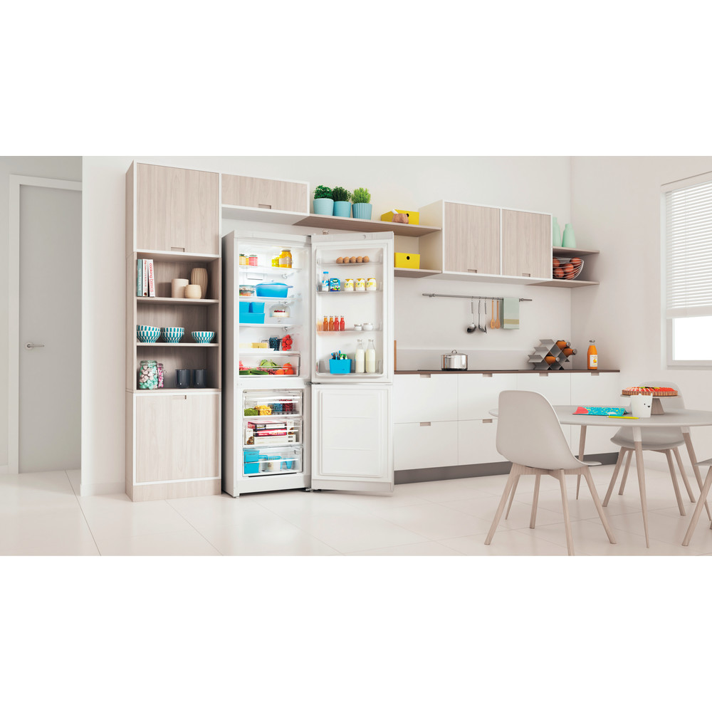 Indesit Холодильник с морозильной камерой Отдельно стоящий ITI 5181 W UA Белый 2 doors Lifestyle perspective open