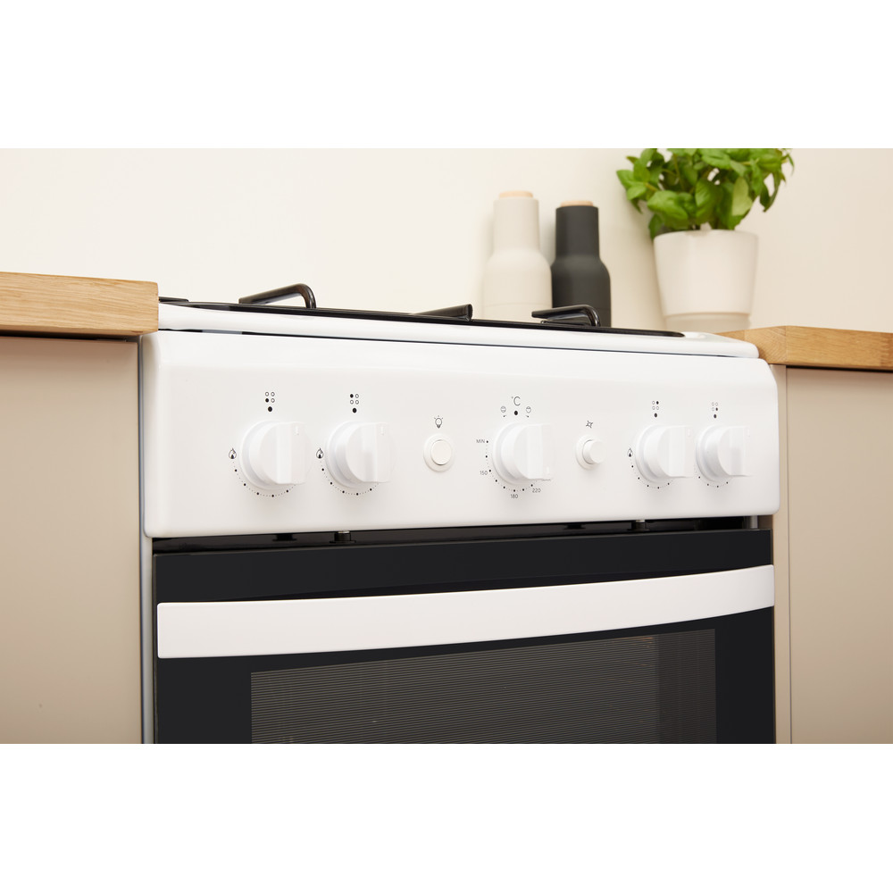Indesit Cooker IS5G1KMW/U White GAS Lifestyle control panel