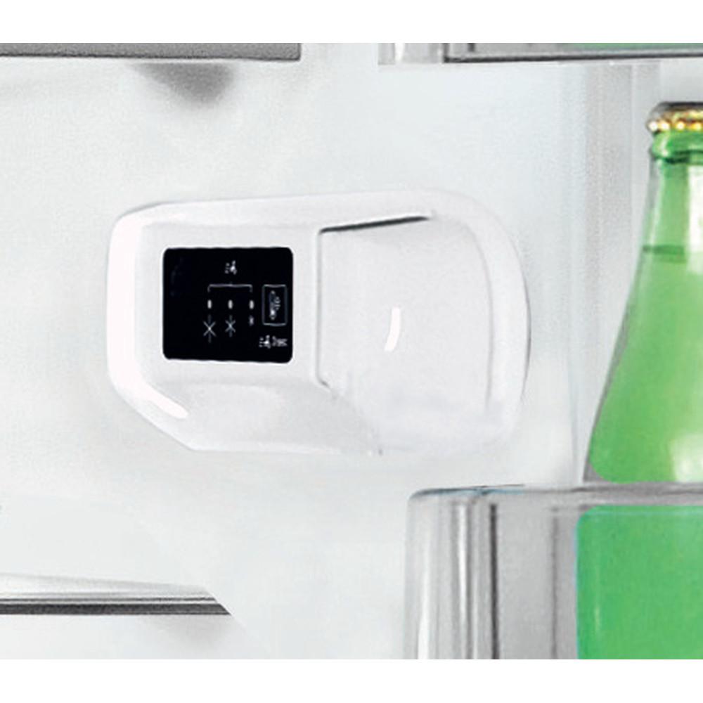 Indesit Lodówka z zamrażarką Wolnostojące LI6 S1E S Srebrny Dwudrzwiow(y)a Lifestyle control panel