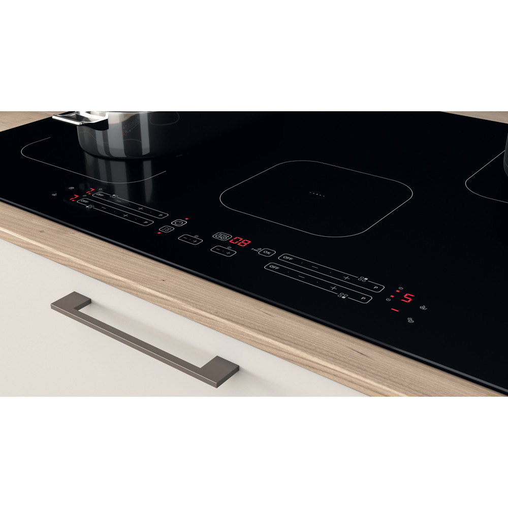Indesit Kookplaat IB 21B77 NE Zwart Induction vitroceramic Lifestyle control panel