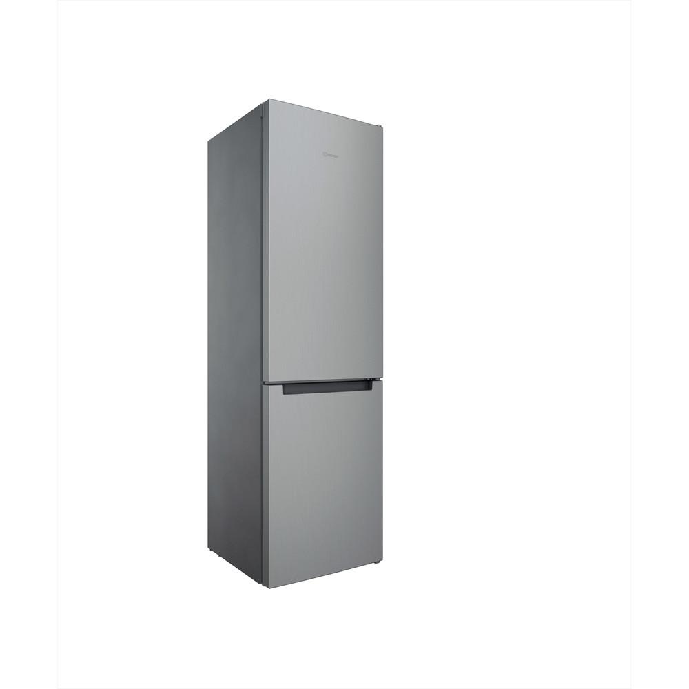 Indesit Combiné réfrigérateur congélateur Pose-libre INFC9 TI21X Inox 2 portes Perspective