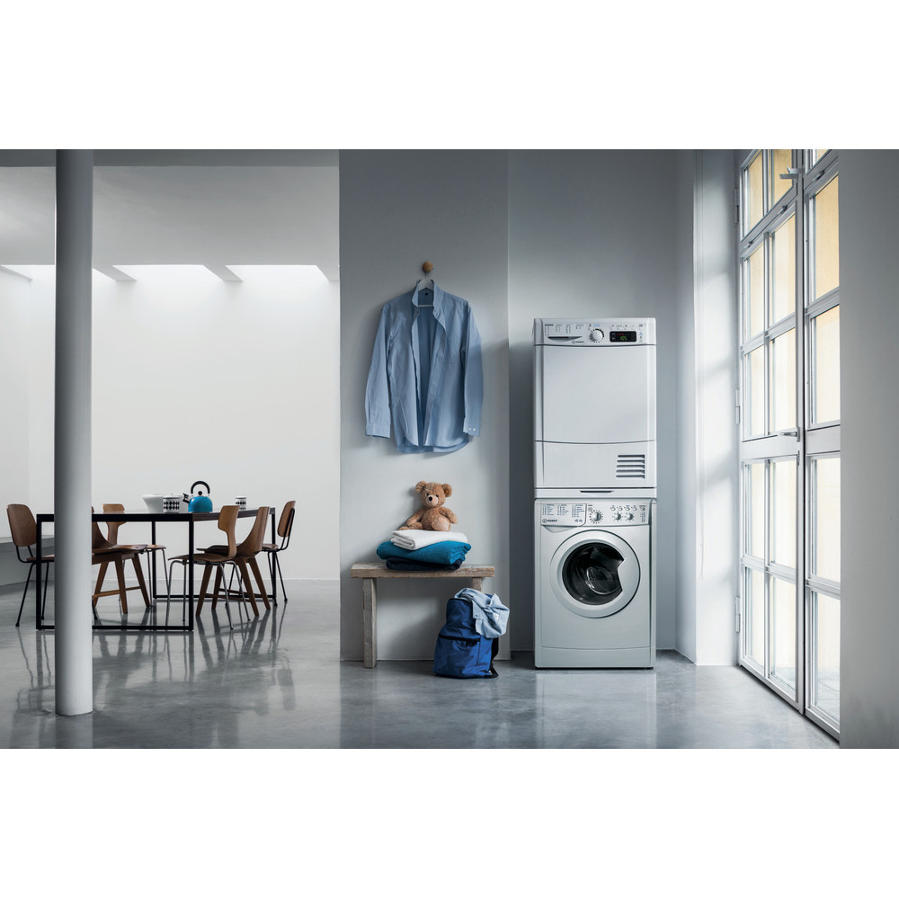 Indesit Washer dryer Free-standing IWDC 65125 S UK N Silver Front loader Lifestyle frontal