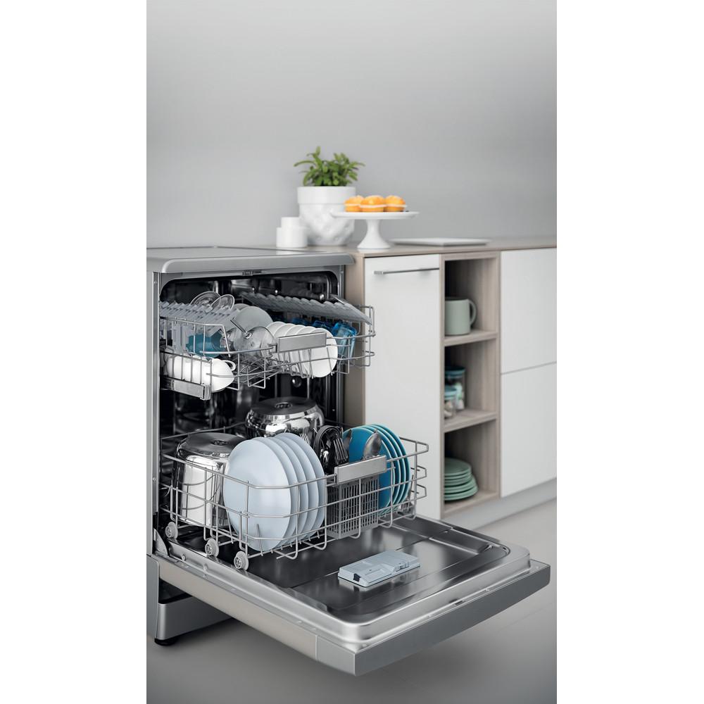 Indesit Посудомоечная машина Отдельностоящий DFC 2C24 A X Отдельностоящий A Lifestyle perspective open