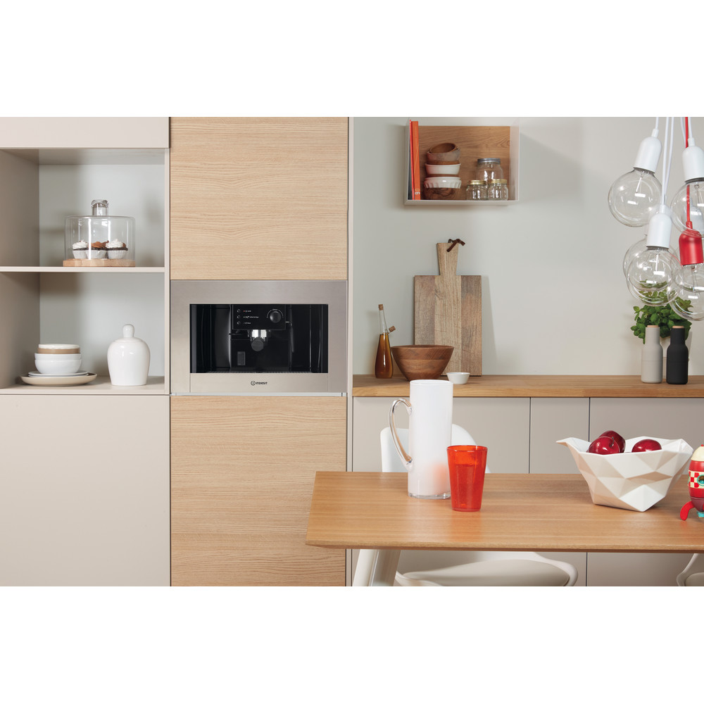 Indesit Built-in coffee machine CMI 5038 IX Inox Half automatic Lifestyle frontal