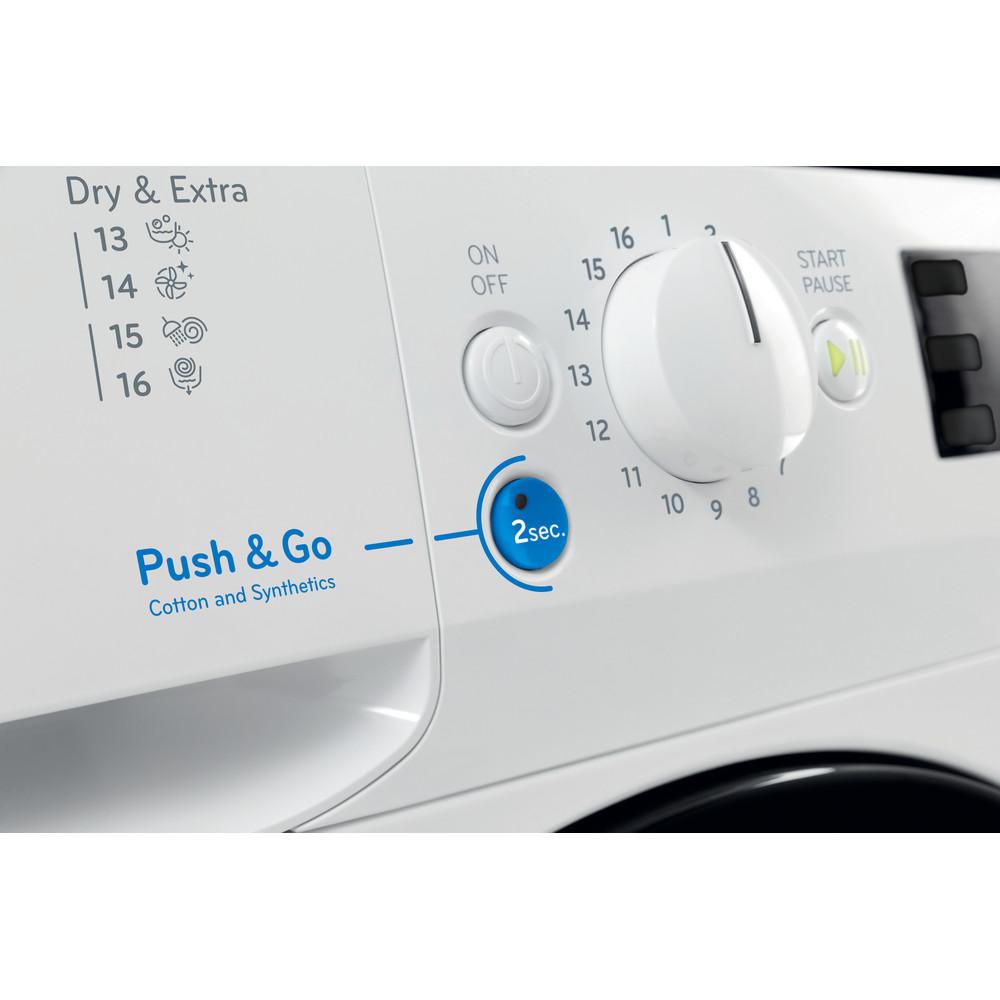 Indesit Tvättmaskin med torktumlare Fristående BDE 1071482X WK EU N White Front loader Lifestyle control panel