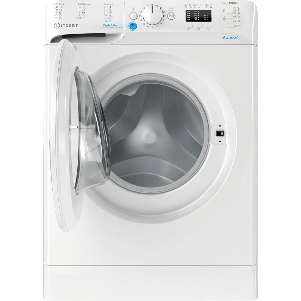 Indesit Перална машина Свободностоящи BWSA 61051 W EU N Бял Предно зареждане F Frontal open