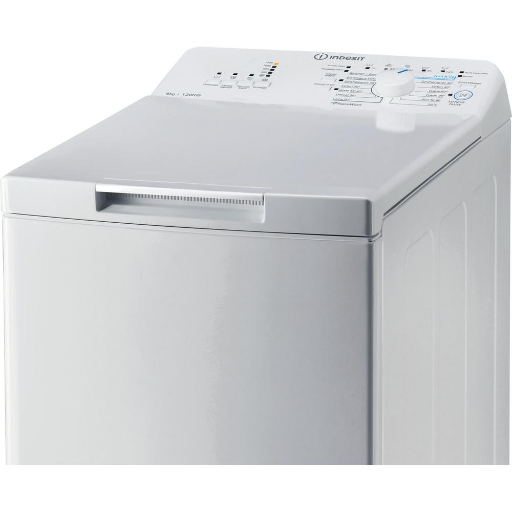Indesit Lave-linge Pose-libre BTW L6230 FR/N Blanc Lave-linge top D Control panel