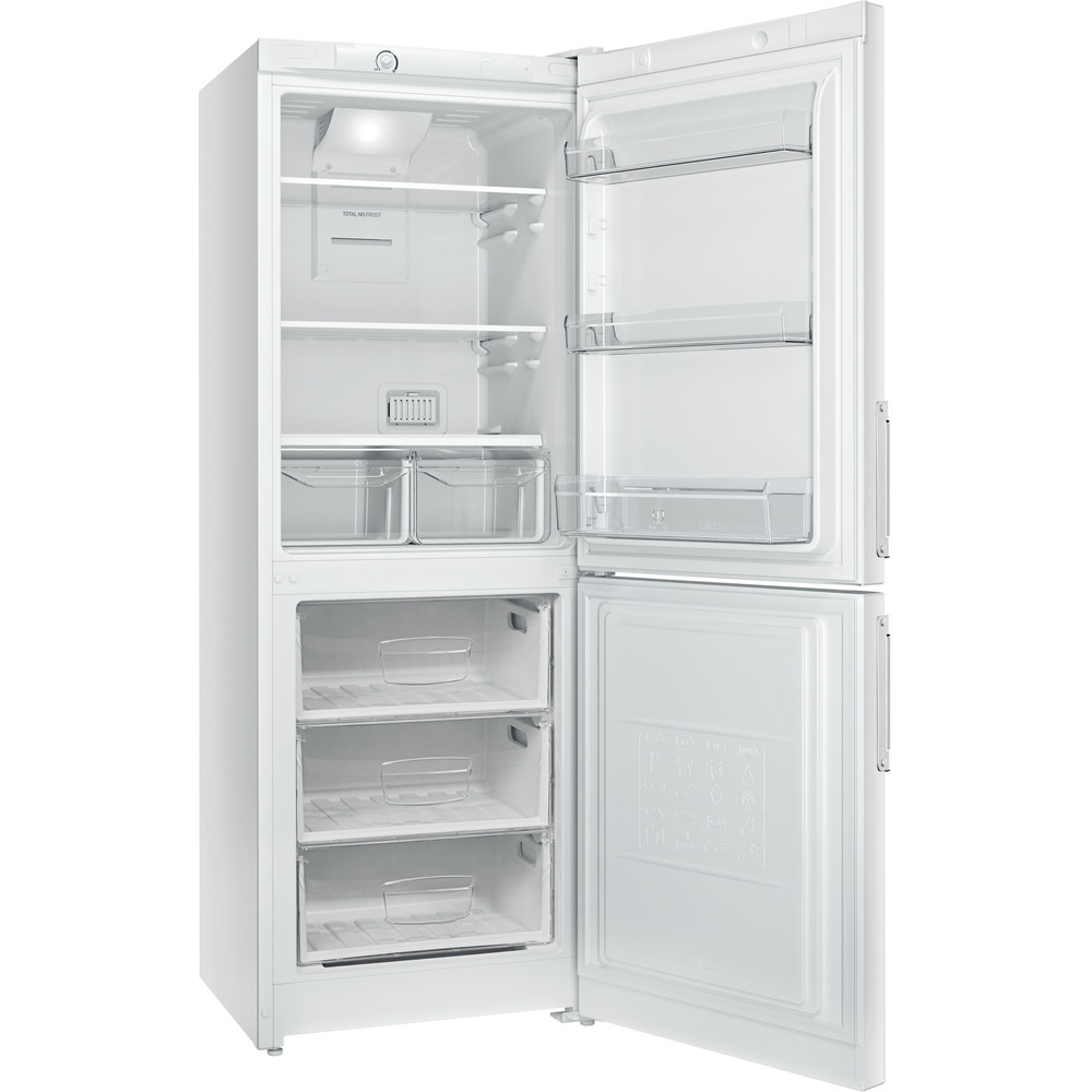 Indesit Холодильник с морозильной камерой Отдельностоящий EF 16 Белый 2 doors Perspective open