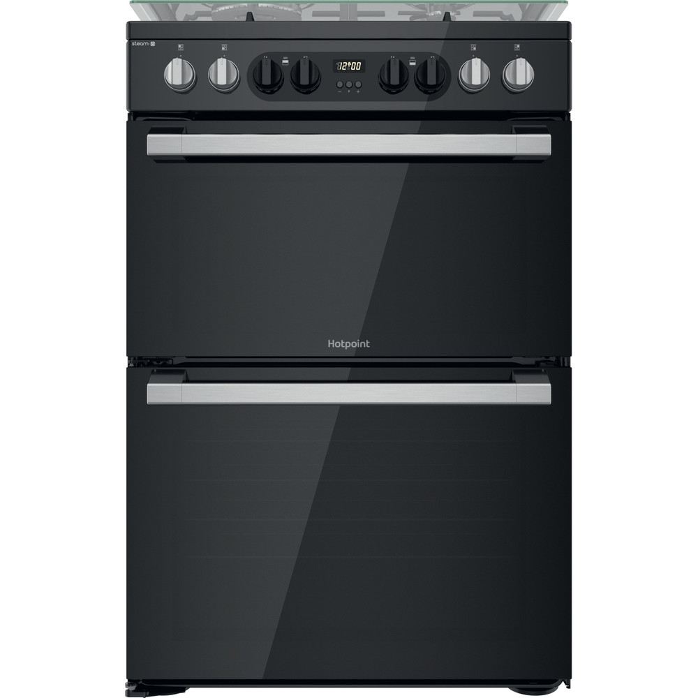 Hotpoint Double Cooker HDM67G8CCB/UK Black A Frontal