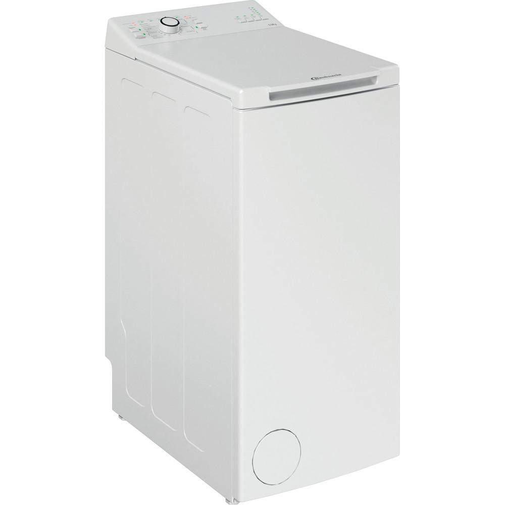 Bauknecht Waschmaschine Standgerät WAT Eco 5510 N Weiss Toplader E Perspective