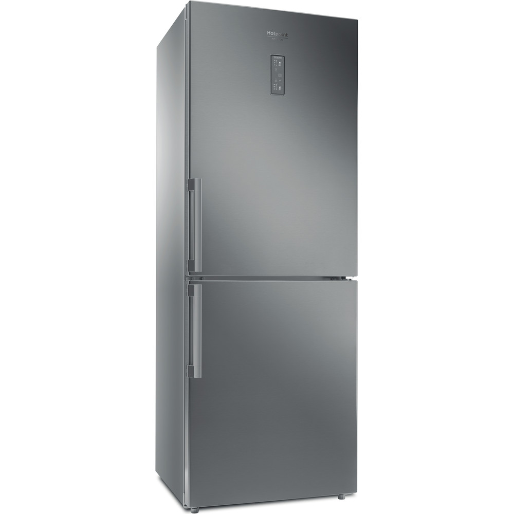 Hotpoint_Ariston Combiné Pose-libre HA70BE 31 X Optic Inox 2 portes Perspective