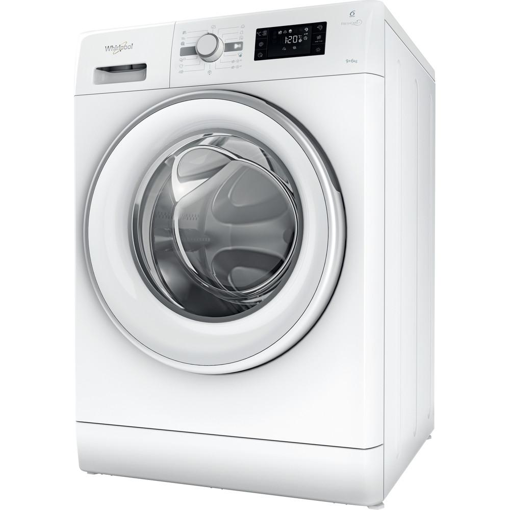 Whirlpool frittstående vask/tørk: 9 kg - FWDG96148WS EU