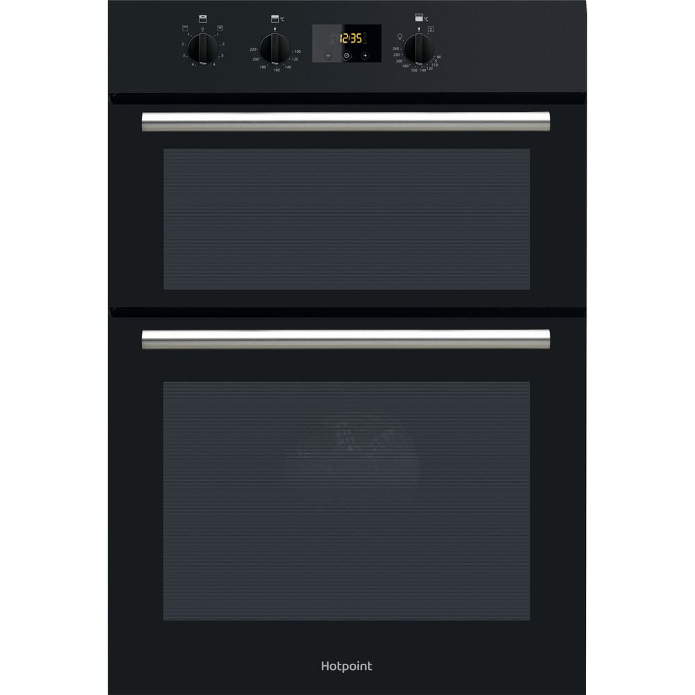 Hotpoint Double oven DD2 540 BL Black A Frontal