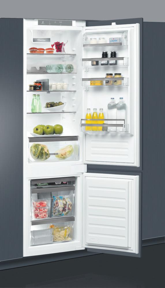 Whirlpool Racitor-congelator combinat Incorporabil ART 9810/A+ Inox 2 doors Perspective open