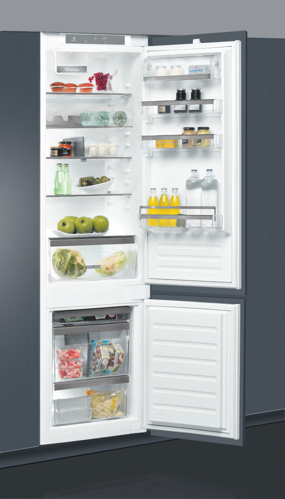 Whirlpool Fridge/freezer combination Vgradni ART 98101 Bela 2 doors Perspective open