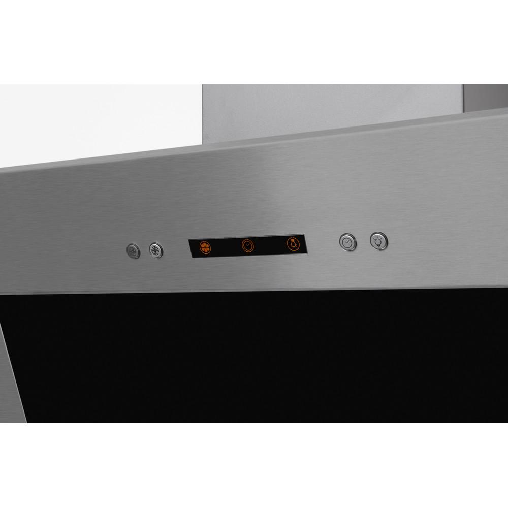 Indesit HOOD Built-in IHVP 6.4 AL K Black Wall-mounted Mechanical Control panel