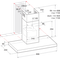 Indesit Dampkap Inbouw IHBS 9.4 LM X Inox Wandmodel Mechanisch Technical drawing