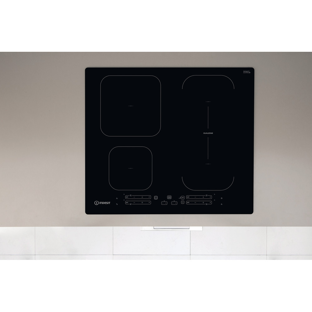 Indesit Kookplaat IB 65B60 NE Zwart Induction vitroceramic Lifestyle frontal