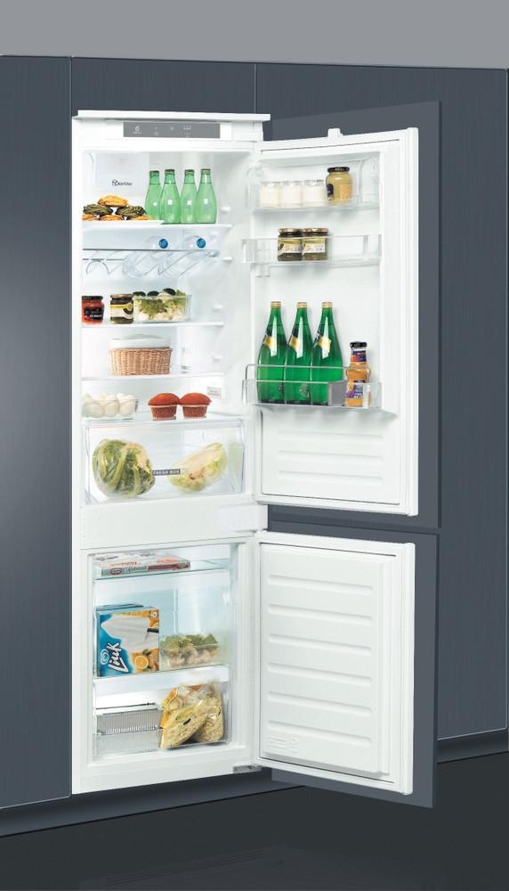 Whirlpool Комбиниран хладилник с камера Вграден ART 7811 Бял 2 врати Perspective open