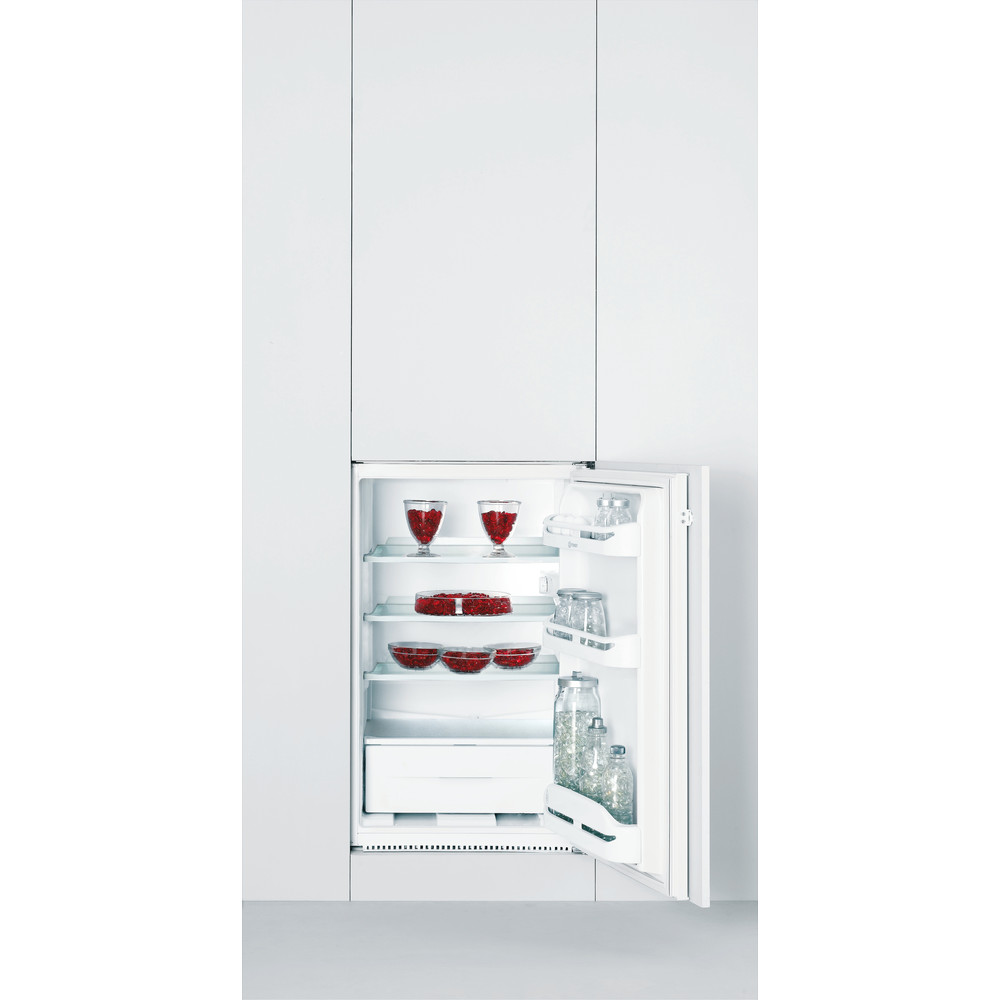 Indesit Refrigerator Built-in IN S 1612 UK (1) White Lifestyle_Frontal_Open
