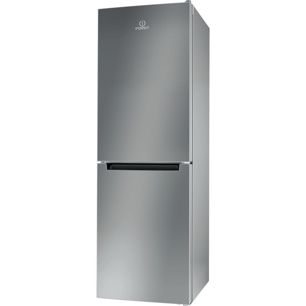 Indesit Combinazione Frigorifero/Congelatore A libera installazione LI70 FF1 X Inox 2 porte Perspective