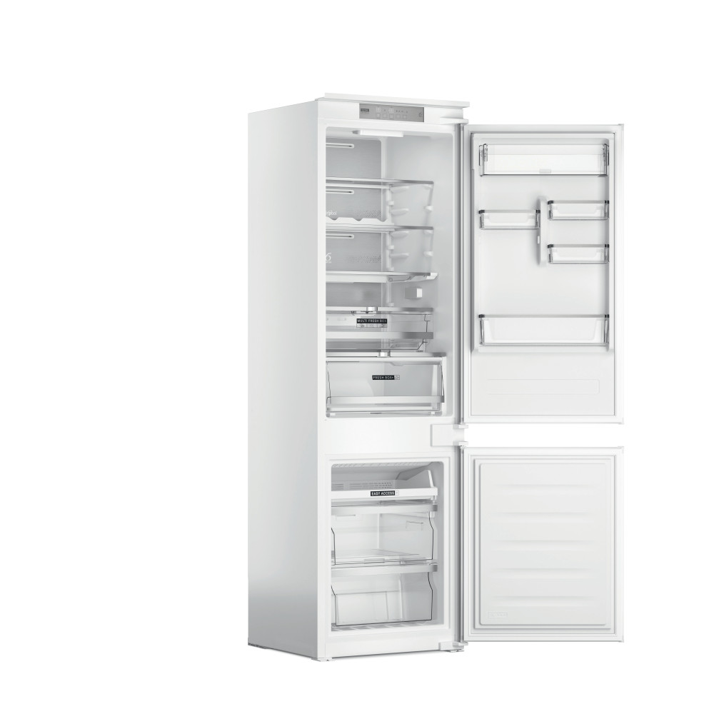 Whirlpool Fridge/freezer combination Vgradni WHC18 T573 Bela 2 doors Perspective open