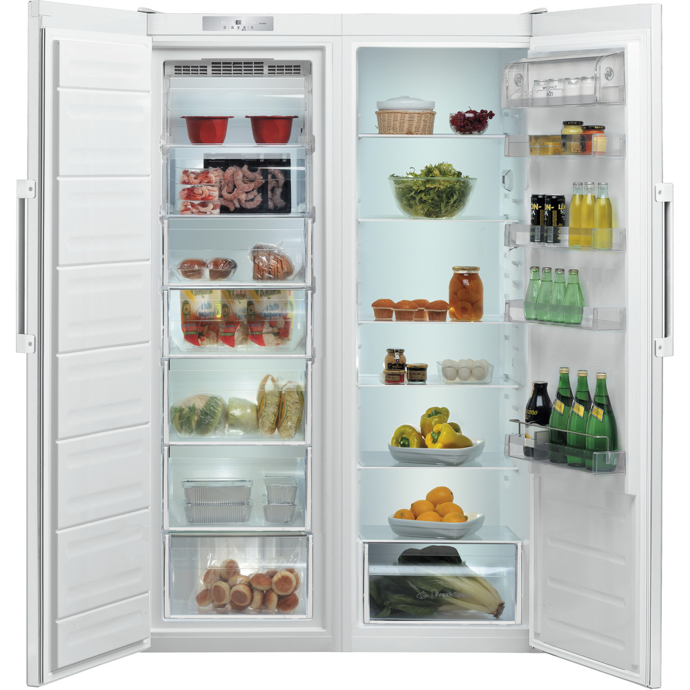 Indesit Refrigerator Free-standing SI8 1Q WD UK 1 Global white Frontal open