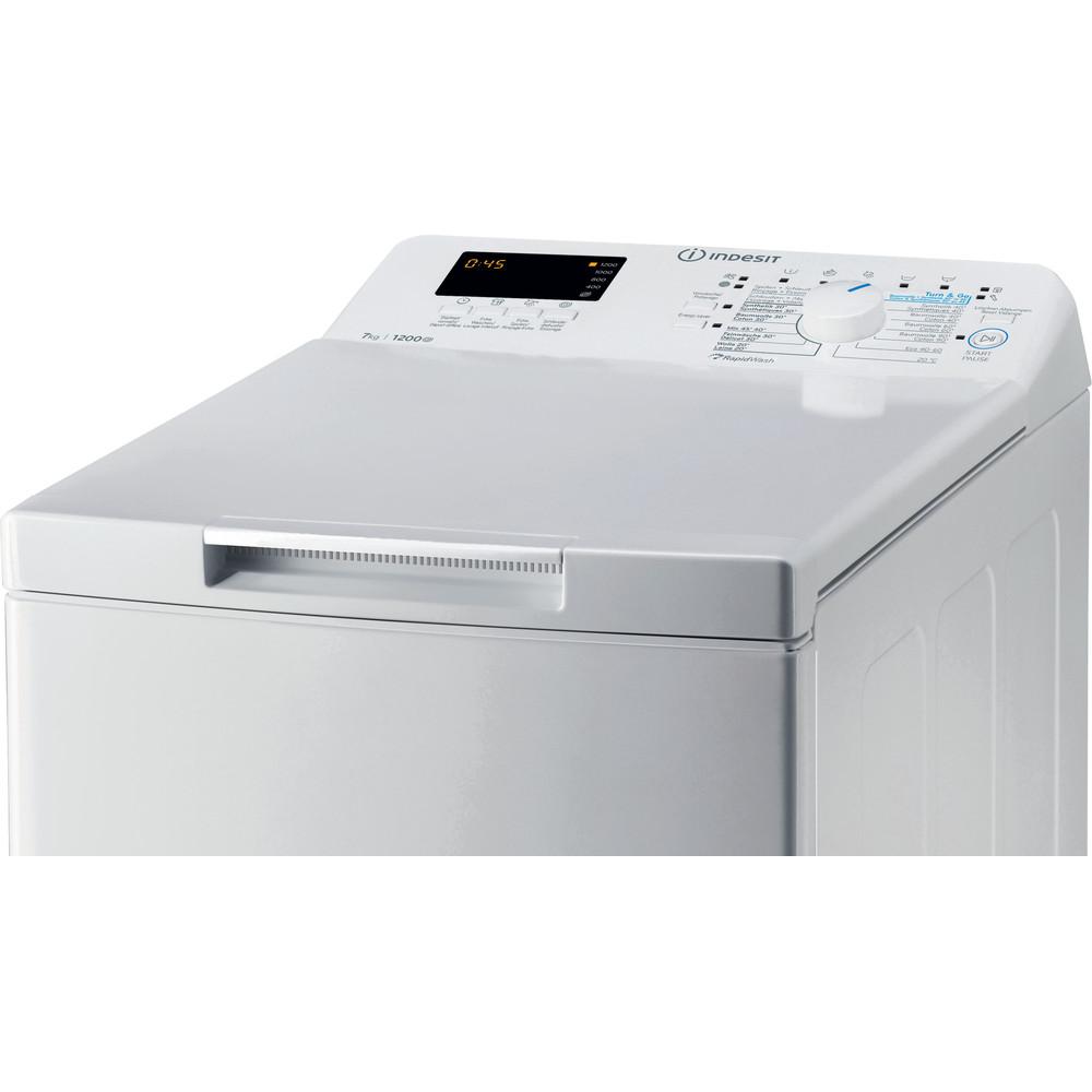 Indesit Waschmaschine Freistehend BTW S72200 CH/N Weiss Toplader E Control panel