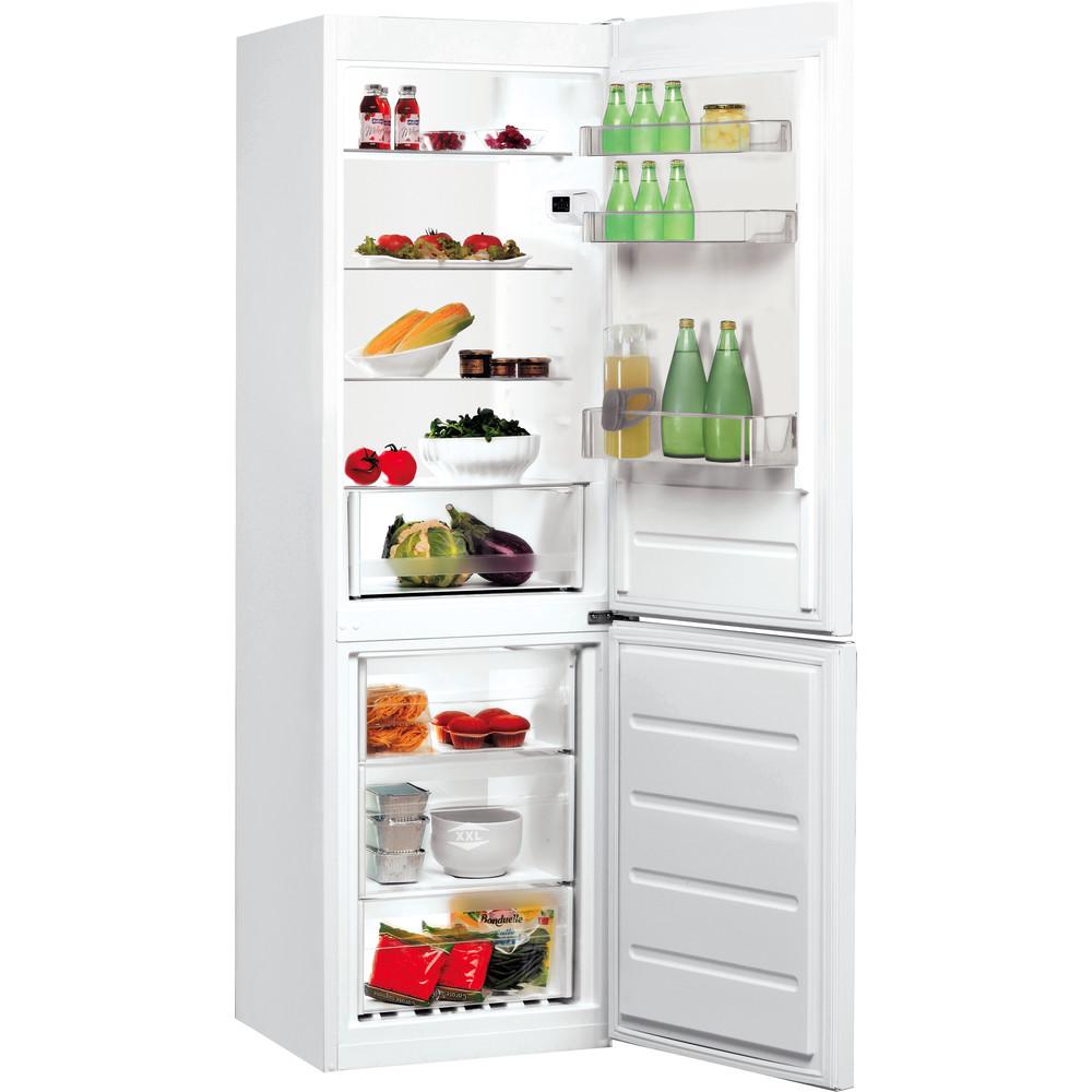 Indesit Hűtő/fagyasztó kombináció Szabadonálló LI8 SN2E W Fehér 2 doors Perspective open