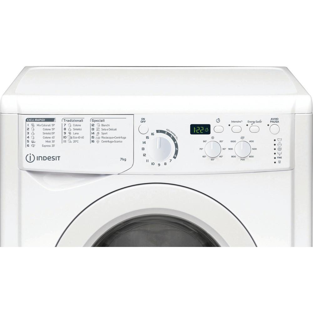 Indesit Lavabiancheria A libera installazione EWD R25017 W IT N Bianco Carica frontale A++ Control panel
