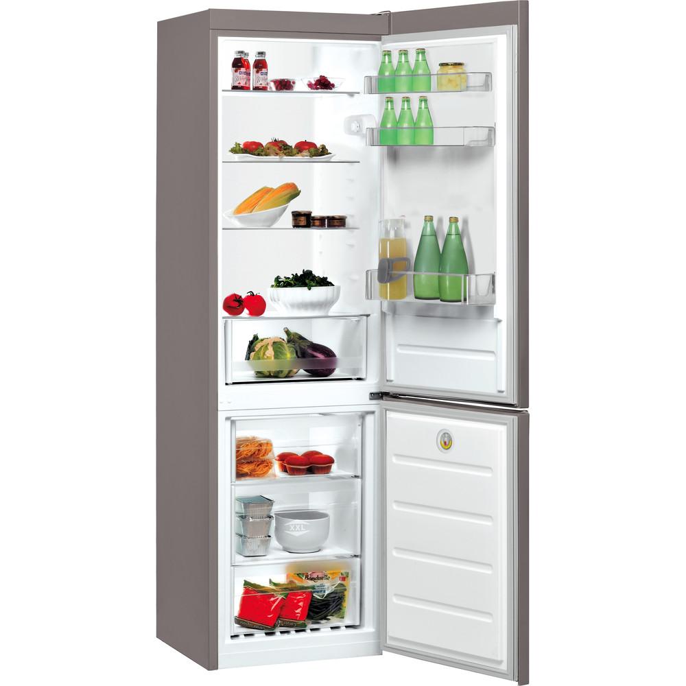 Indesit Kombinovaná chladnička s mrazničkou Voľne stojace LR8 S2 S B Srtrieborná 2 doors Perspective open