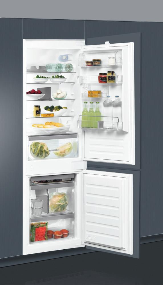 Whirlpool Hűtő/fagyasztó kombináció Beépíthető ART 65031 Fehér 2 doors Lifestyle perspective open