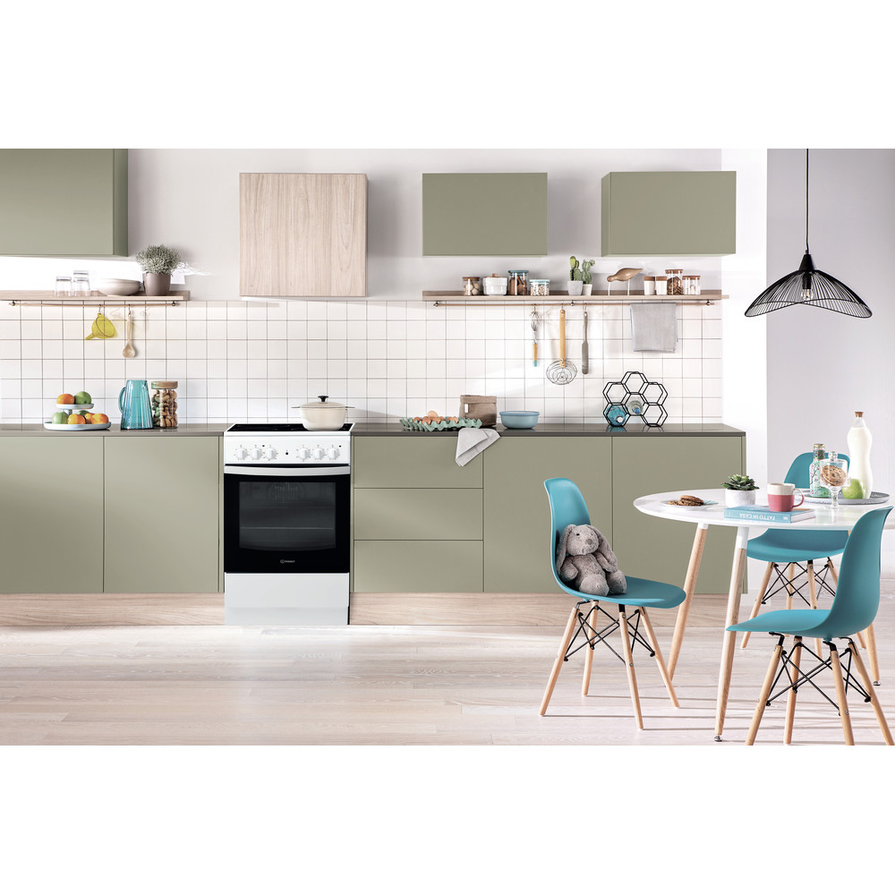 Indesit Плита IS5V4KHW/RU Белый Electrical Lifestyle frontal