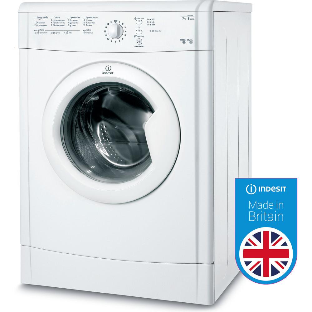 Indesit Dryer IDVL 75 BR.9 UK White Perspective