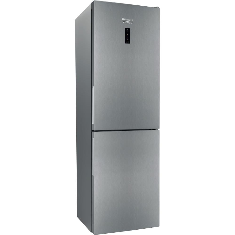 Hotpoint_Ariston Комбинированные холодильники Отдельностоящий HF 5181 X Нержавеющая сталь 2 doors Perspective