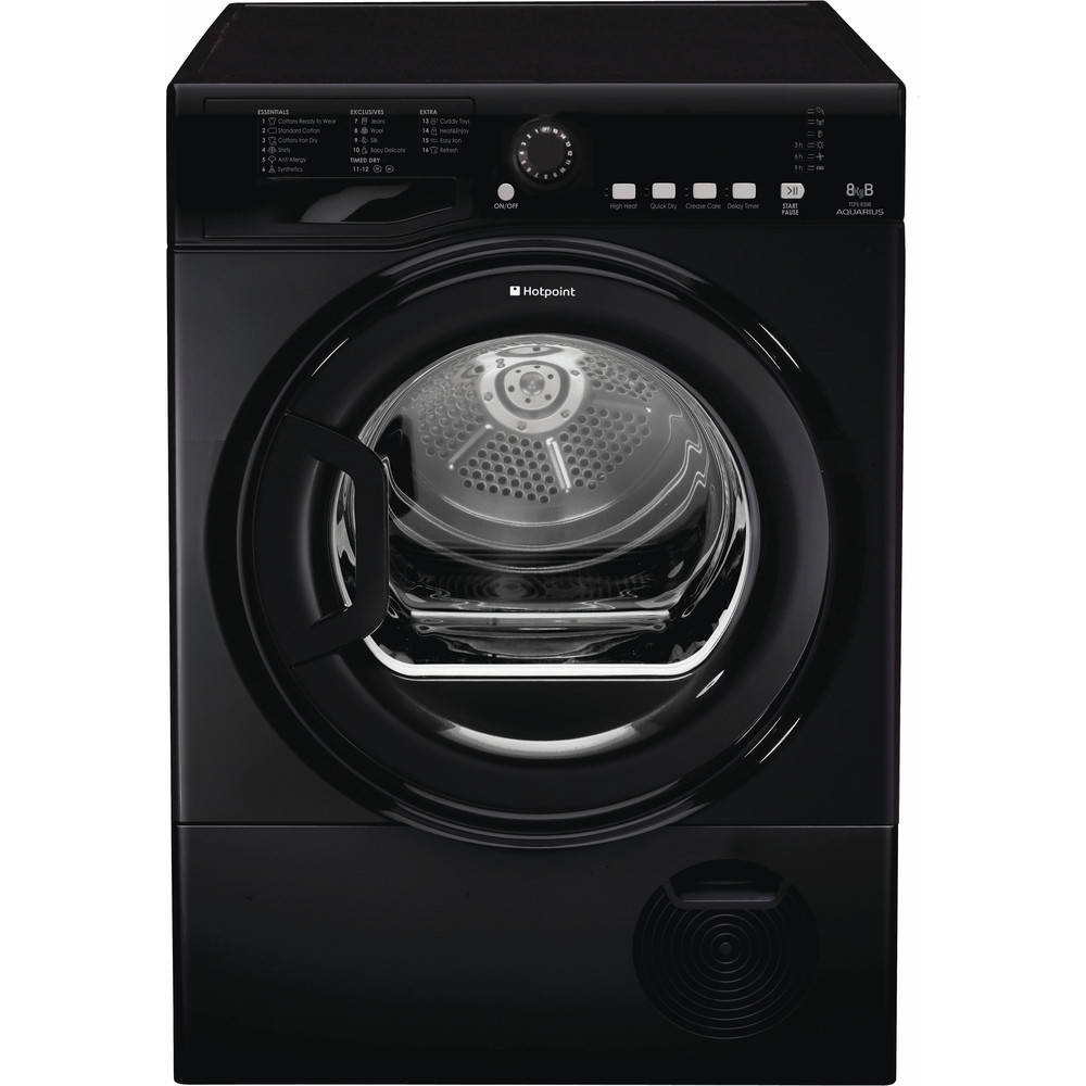 Hotpoint Dryer TCFS 835B GK.9 UK Black Frontal