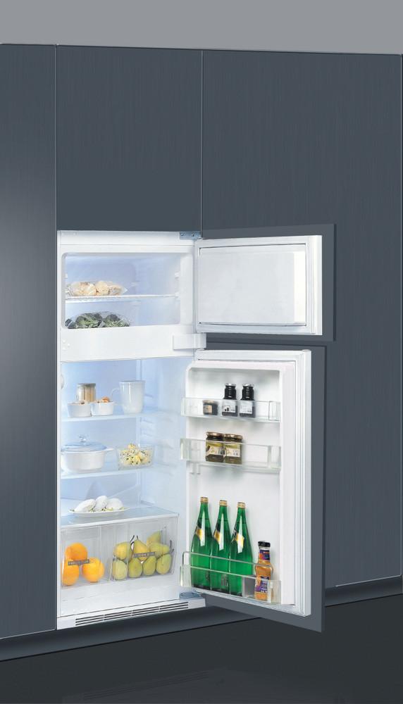 Whirlpool Jääkaappipakastin Kalusteisiin sijoitettava ART 375/A+ Valkoinen 2 doors Perspective open