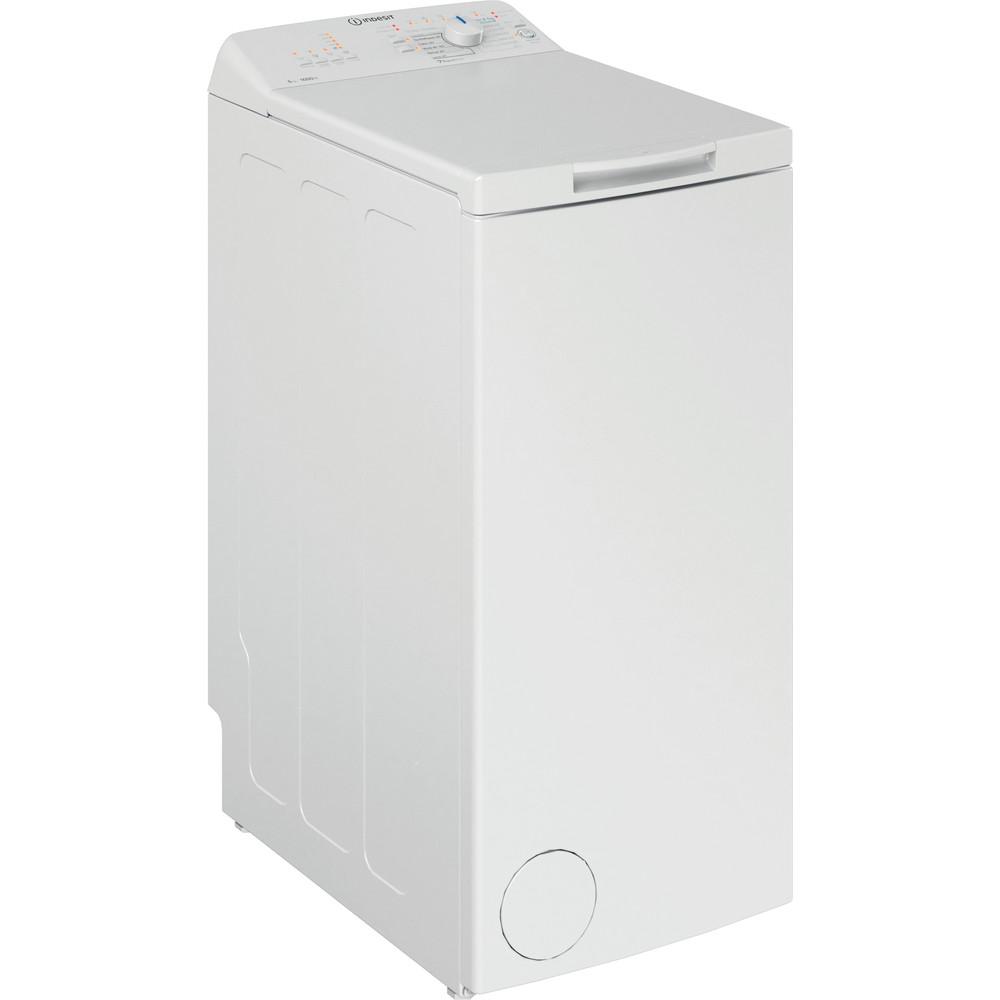 Indesit Lave-linge Pose-libre BTW L50300 FR/N Blanc Lave-linge top D Perspective
