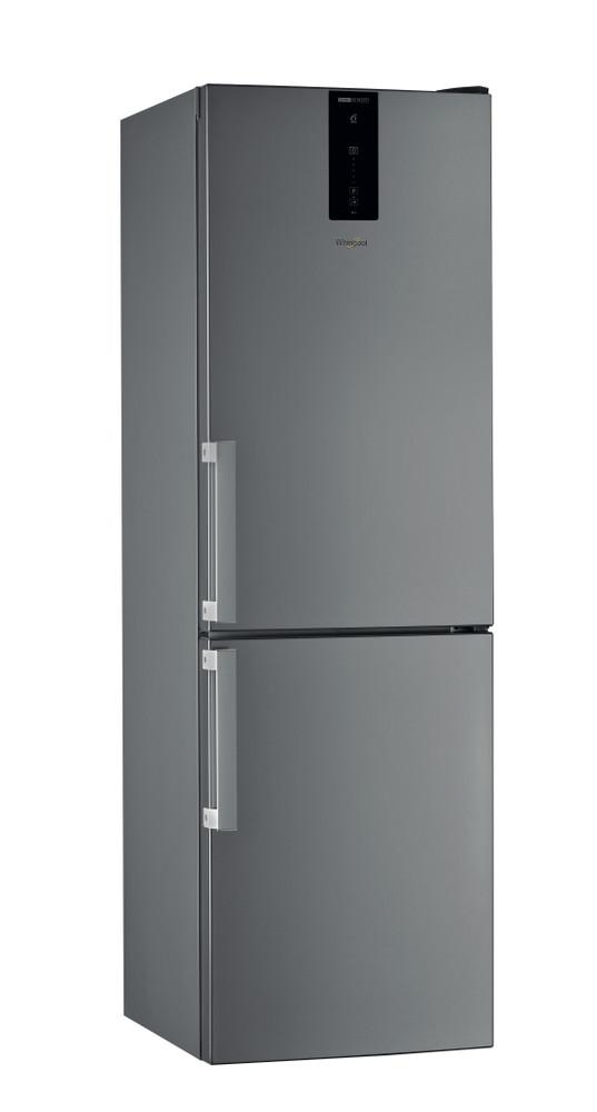 Whirlpool Racitor-congelator combinat De sine statator W7 821O OX H Optic Inox 2 doors Perspective