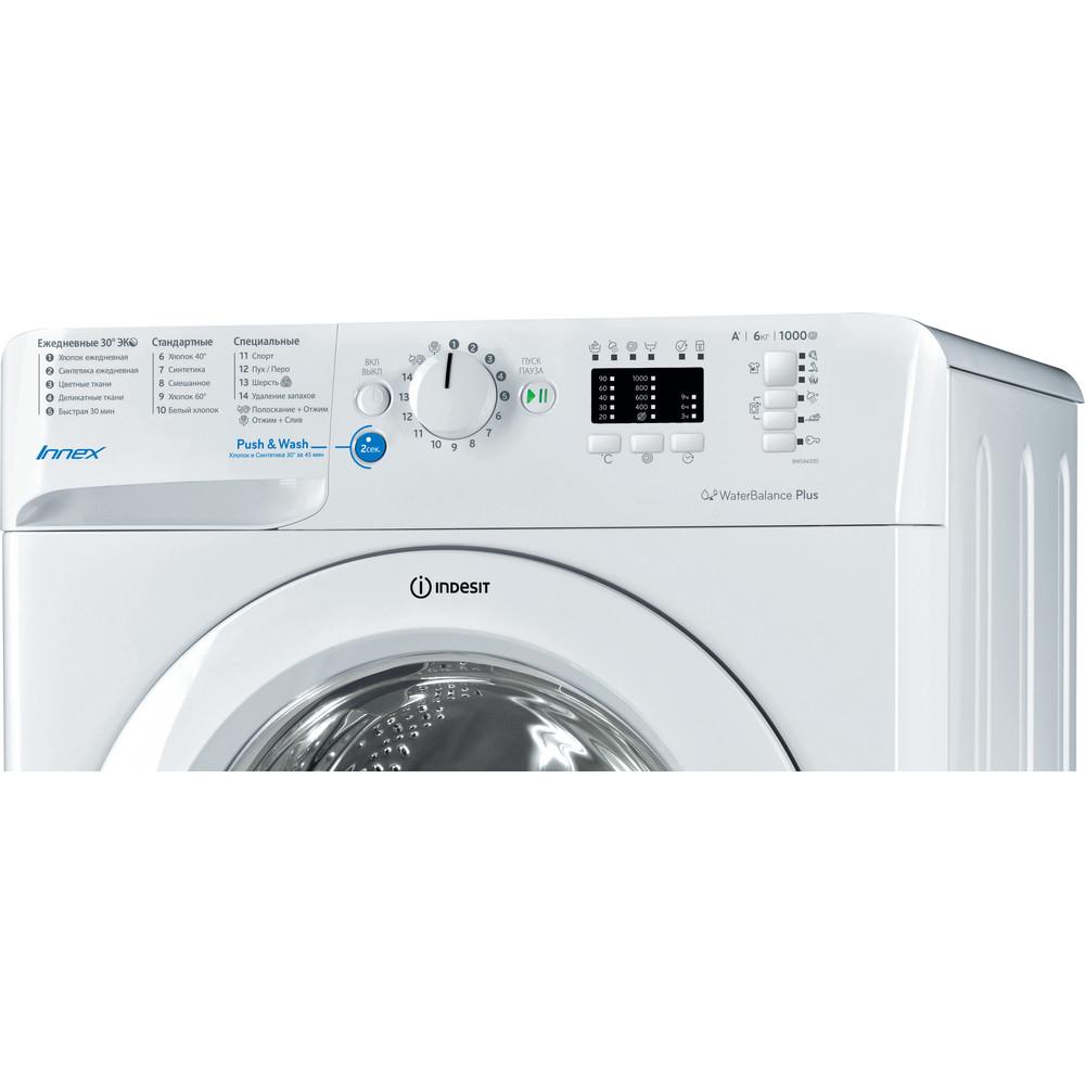Indesit Стиральная машина Отдельностоящий BWSA 61051 Белый Фронтальная загрузка A Control_Panel