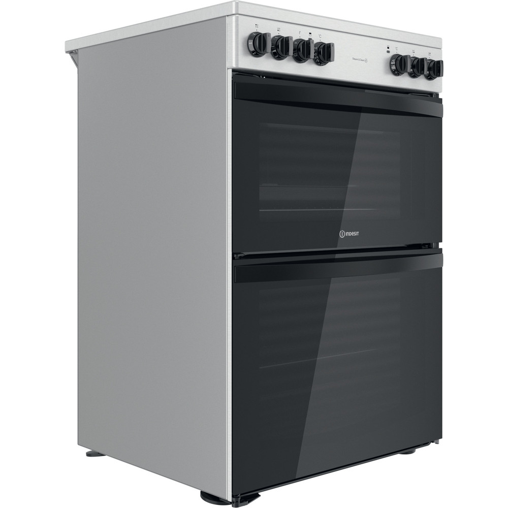 Indesit Double Cooker ID67V9HCCX/UK Inox A Perspective