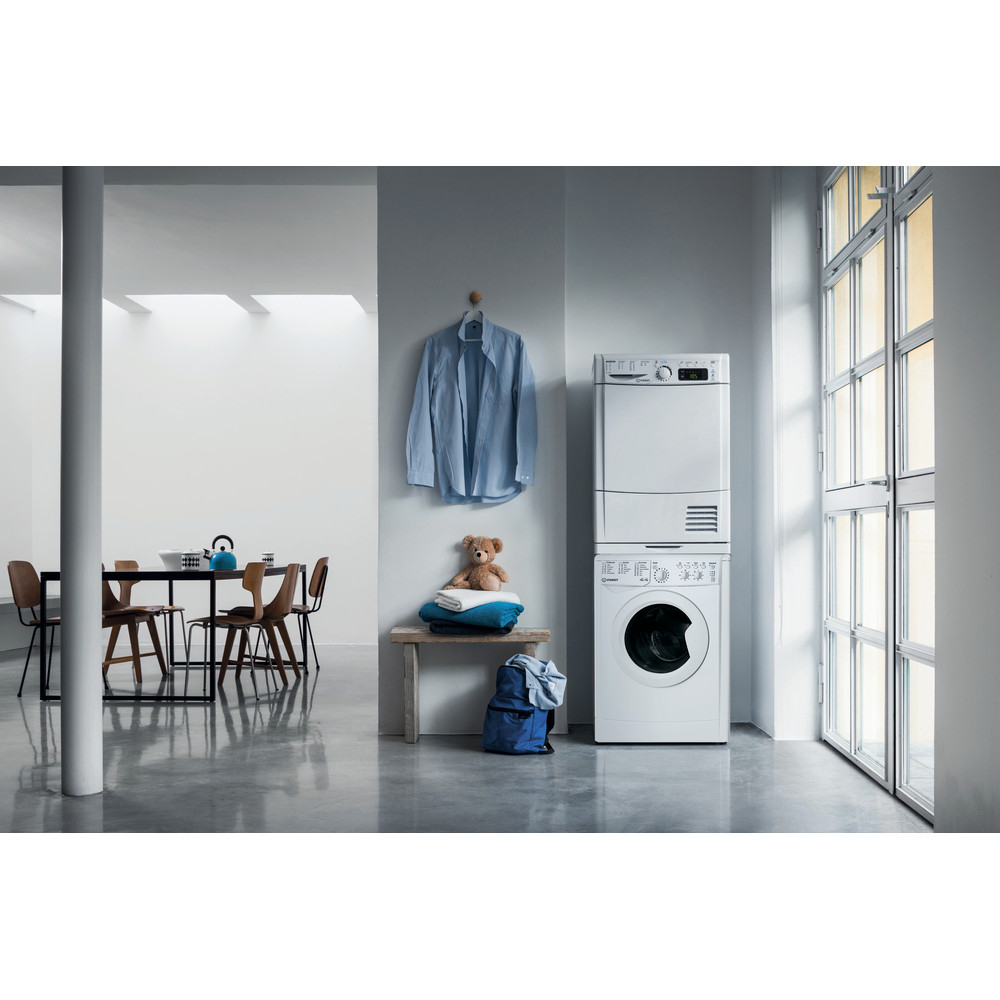 Indesit Washer dryer Free-standing IWDC 65125 UK N White Front loader Lifestyle frontal